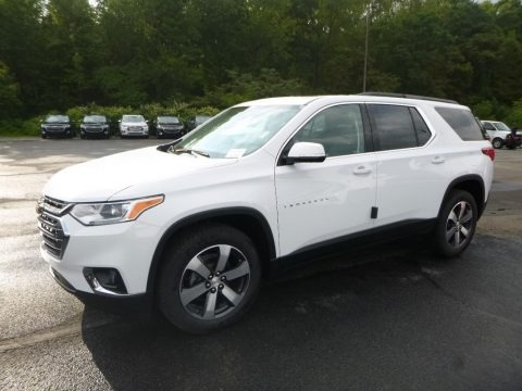 Summit White 2019 Chevrolet Traverse LT AWD