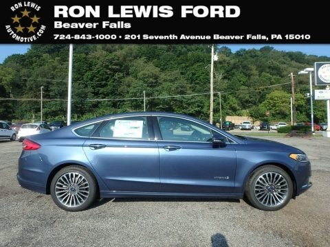Blue Metallic 2018 Ford Fusion Hybrid SE