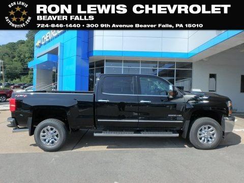 Black 2019 Chevrolet Silverado 2500HD LTZ Crew Cab 4WD
