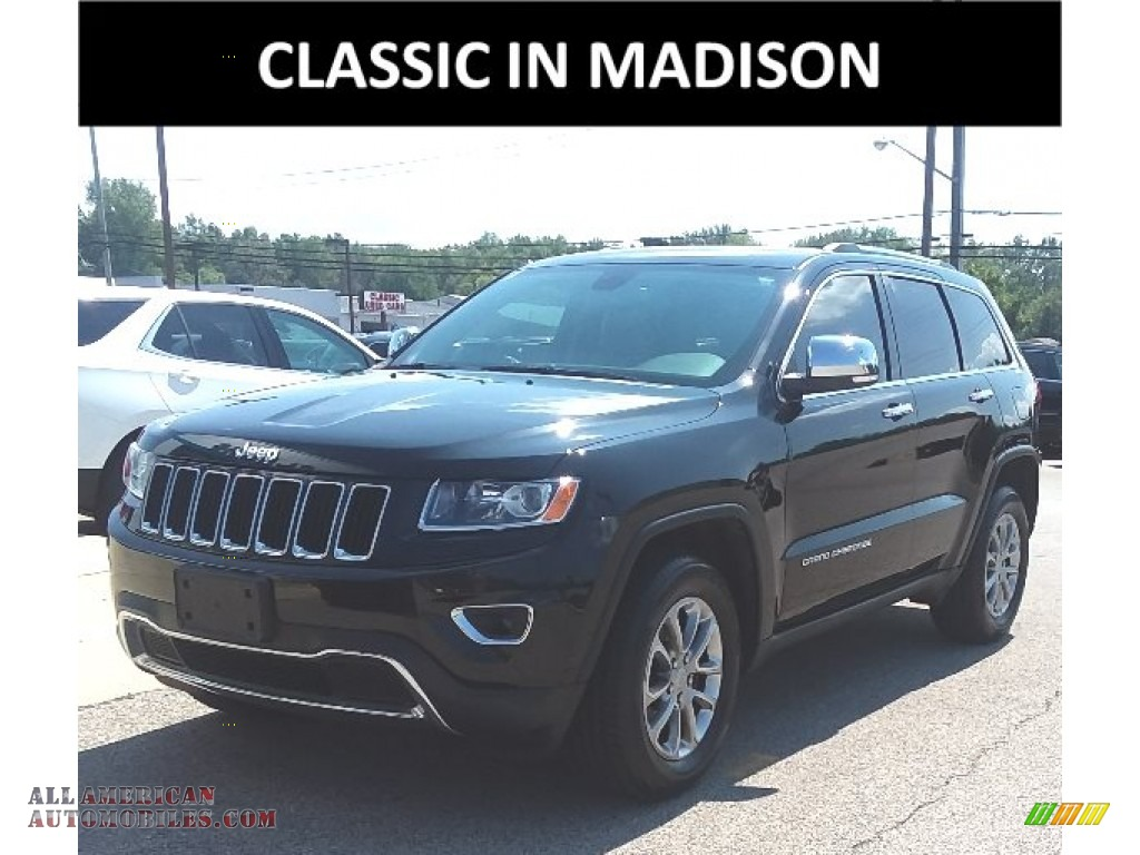 2015 Grand Cherokee Limited 4x4 - Brilliant Black Crystal Pearl / Black/Light Frost Beige photo #1