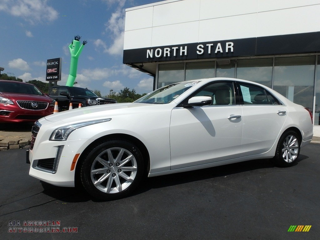 2015 CTS 2.0T Luxury AWD Sedan - Crystal White Tricoat / Light Cashmere/Medium Cashmere photo #1