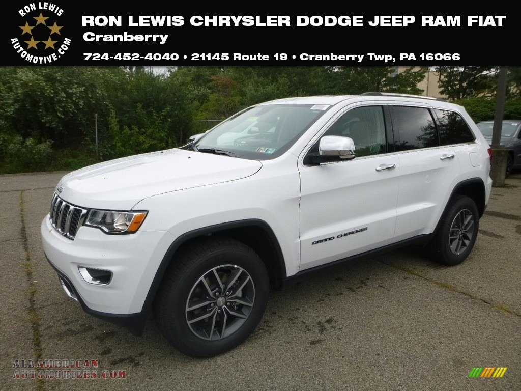 2018 Grand Cherokee Limited 4x4 - Bright White / Black/Light Frost Beige photo #1