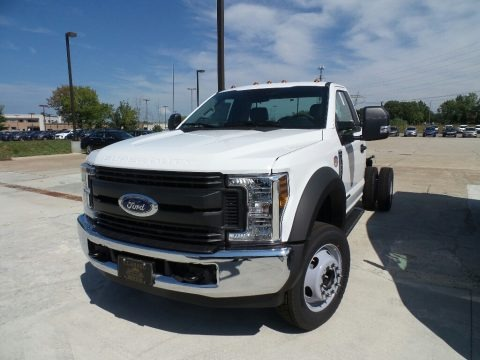 White 2019 Ford F550 Super Duty XL Regular Cab Chassis
