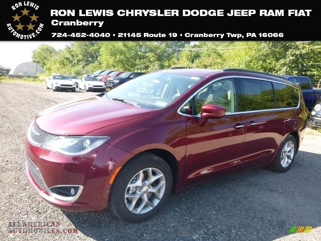 2019 Pacifica Touring Plus - Velvet Red Pearl / Cognac/Alloy photo #1