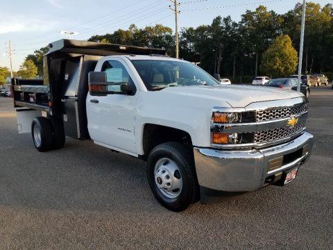 Summit White 2019 Chevrolet Silverado 3500HD Work Truck Regular Cab 4x4 Dump Truck