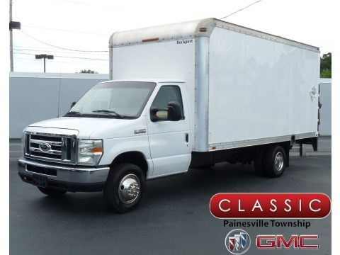 Oxford White 2008 Ford E Series Cutaway E350 Commercial Moving Truck