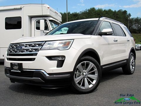 White Platinum 2018 Ford Explorer Limited 4WD