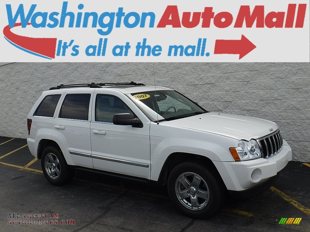 2007 Grand Cherokee Limited 4x4 - Stone White / Dark Khaki/Light Graystone photo #1
