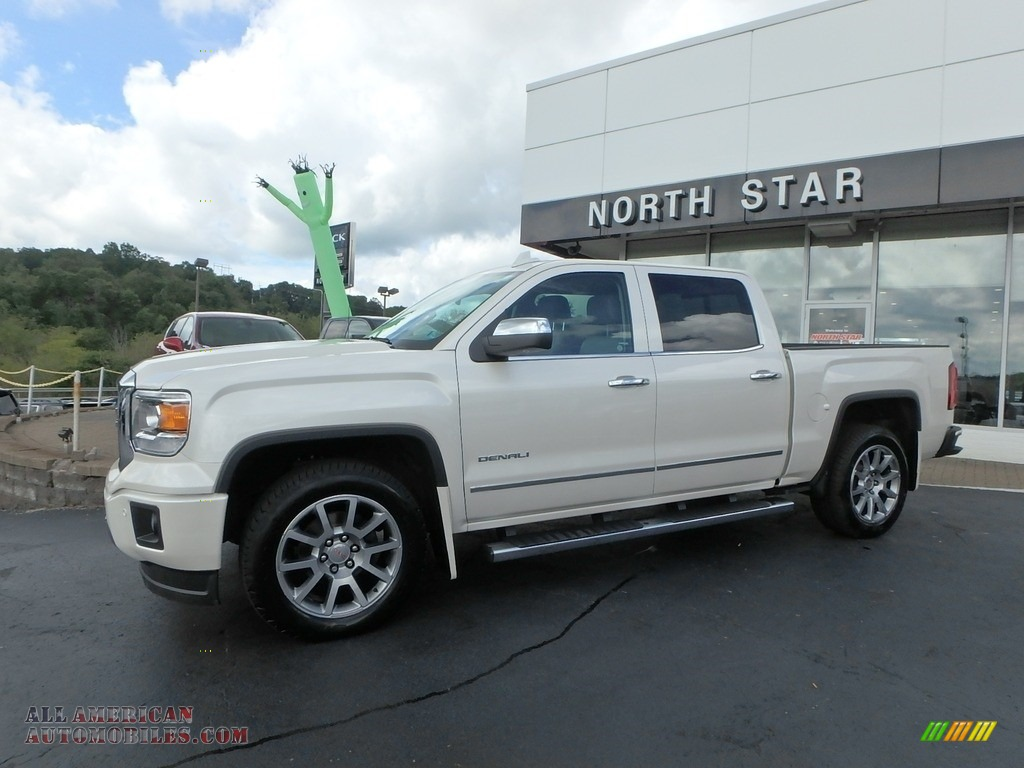 2015 Sierra 1500 Denali Crew Cab 4x4 - White Diamond Tricoat / Cocoa/Dune photo #1