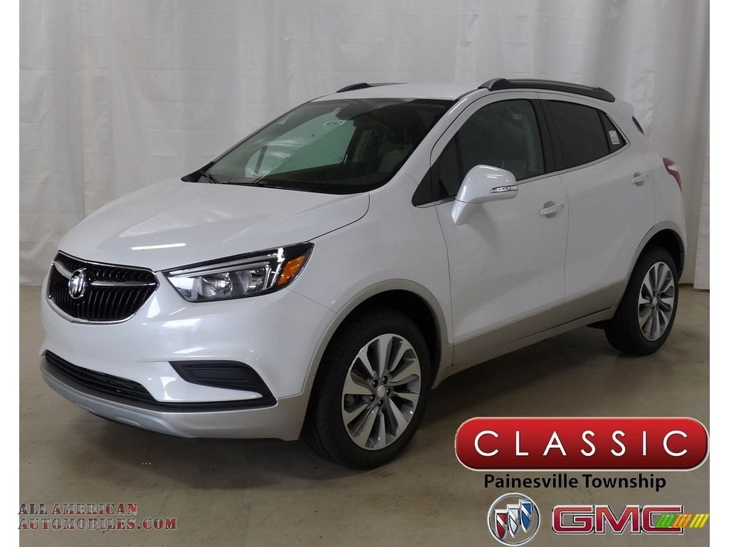 2019 Encore Preferred AWD - White Frost Tricoat / Shale photo #1