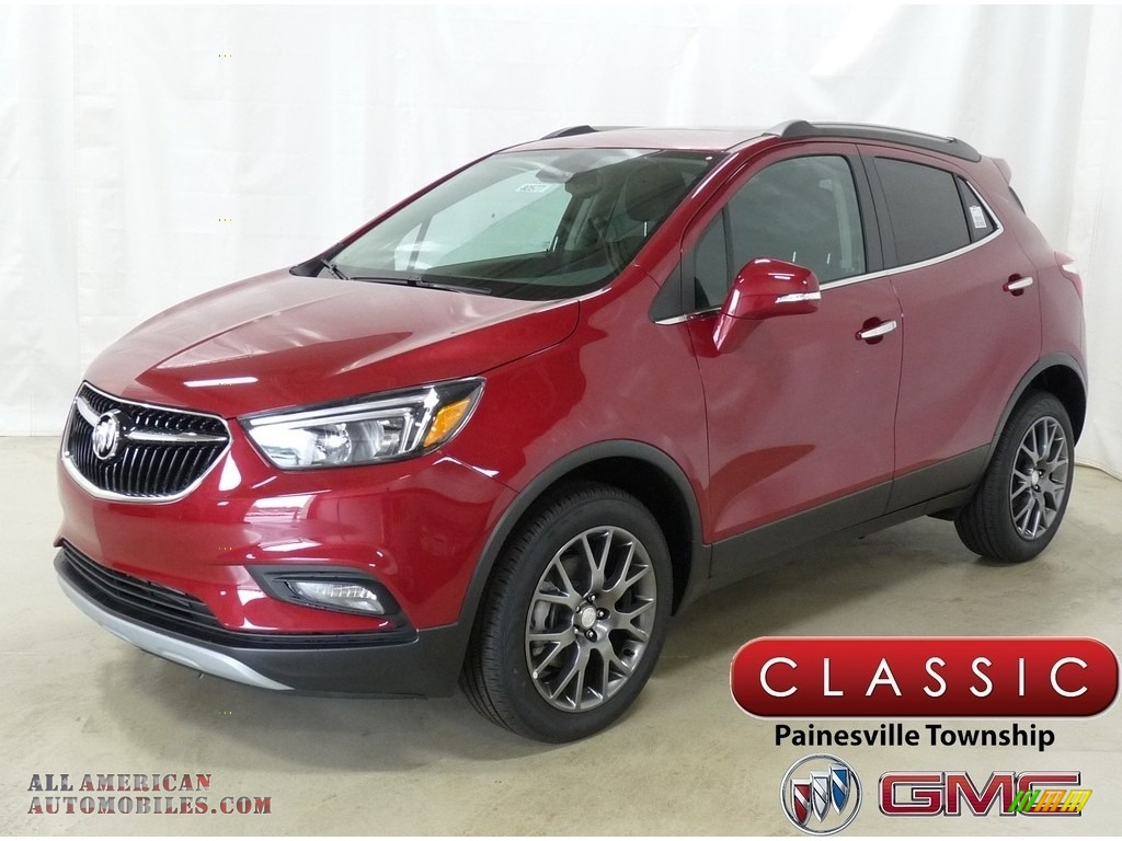 Winterberry Red Metallic / Ebony Buick Encore Sport Touring AWD