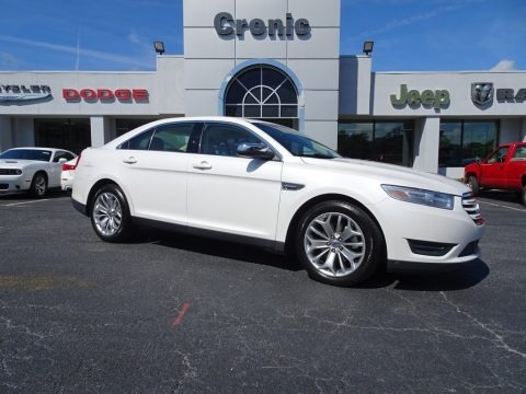 White Platinum 2014 Ford Taurus Limited