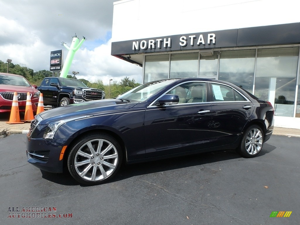 2015 ATS 2.0T Luxury AWD Sedan - Dark Adriatic Blue Metallic / Light Neutral/Medium Cashmere photo #1