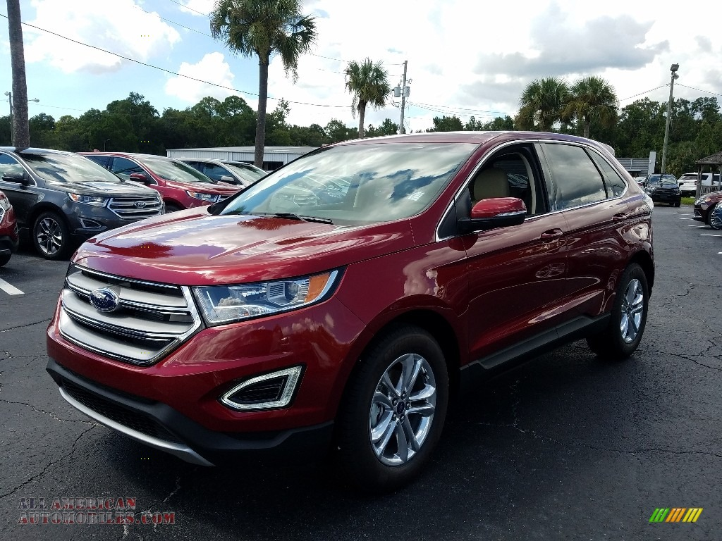Ruby Red / Dune Ford Edge SEL