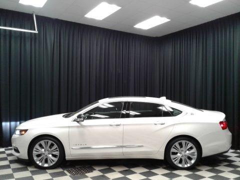 White Diamond Tricoat 2014 Chevrolet Impala LTZ