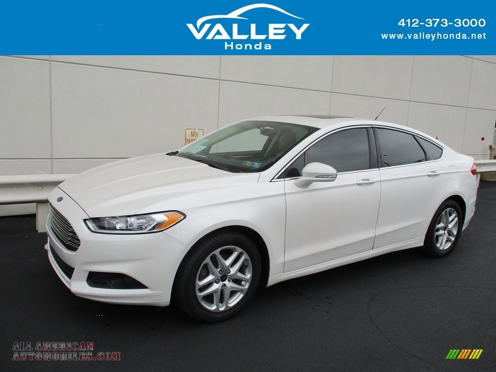 2014 Fusion SE EcoBoost - Oxford White / Dune photo #1