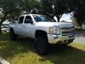 Chevrolet Silverado 1500 LT Crew Cab 4x4 Silver Ice Metallic photo #7