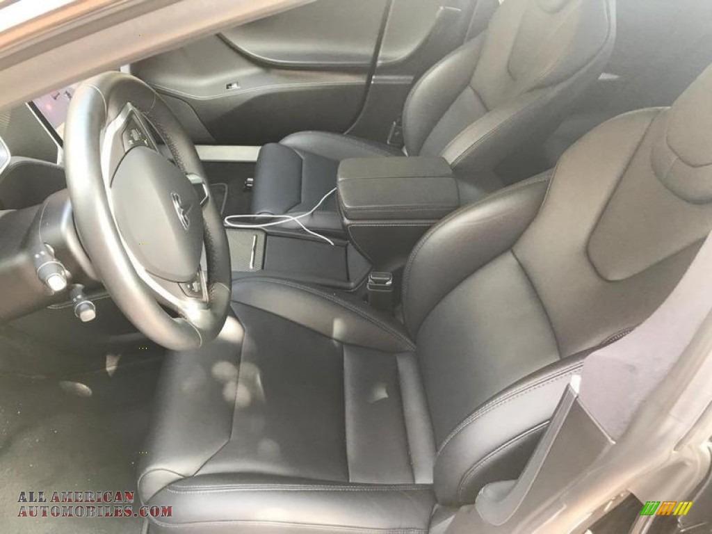 2018 Model S P100D - Solid Black / Black photo #3