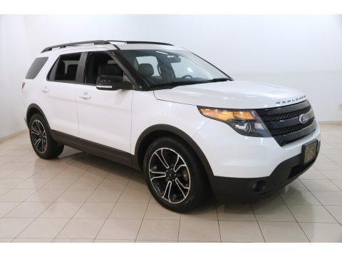 White Platinum 2015 Ford Explorer Sport 4WD