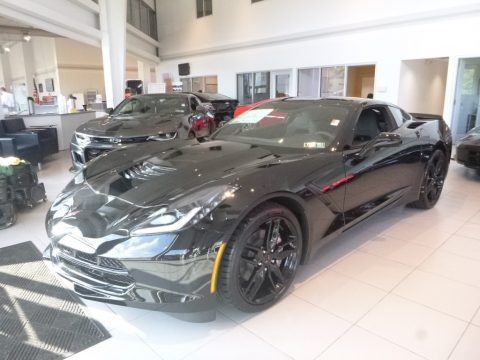 Black 2019 Chevrolet Corvette Stingray Coupe