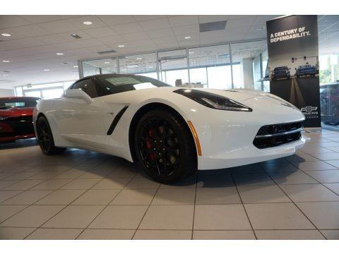 Arctic White 2019 Chevrolet Corvette Stingray Coupe