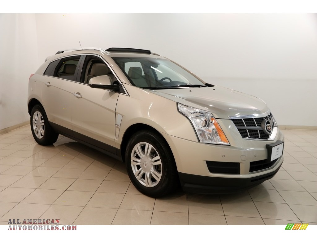Gold Mist Metallic / Shale/Brownstone Cadillac SRX Luxury AWD
