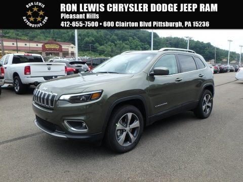 Olive Green Pearl 2019 Jeep Cherokee Limited 4x4