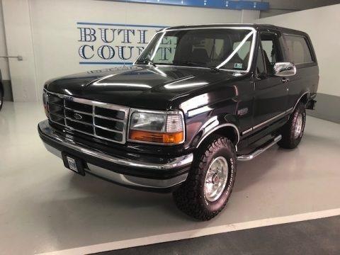 Black 1992 Ford Bronco XLT 4x4