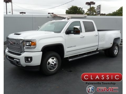 Summit White 2019 GMC Sierra 3500HD Denali Crew Cab 4WD Dual Rear Wheel