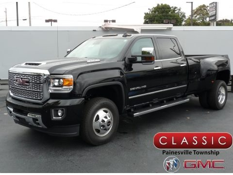Onyx Black 2019 GMC Sierra 3500HD Denali Crew Cab 4WD Dual Rear Wheel