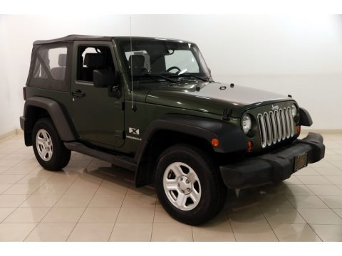Jeep Green Metallic 2007 Jeep Wrangler X 4x4