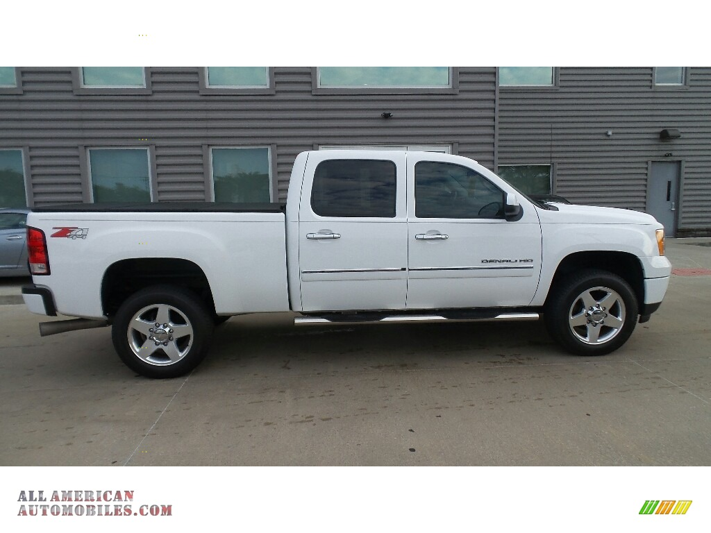 2014 Sierra 2500HD Denali Crew Cab 4x4 - Summit White / Ebony photo #5