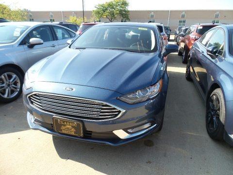Blue Metallic 2018 Ford Fusion SE