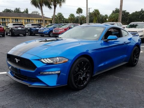 Velocity Blue 2019 Ford Mustang EcoBoost Fastback