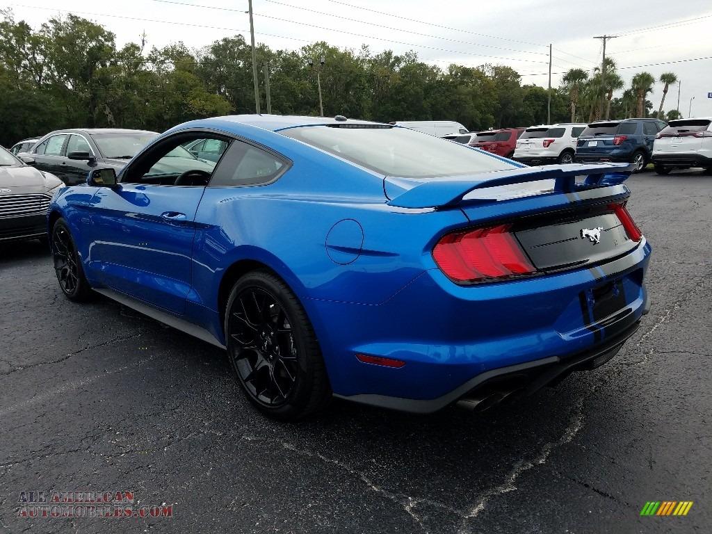 2019 Mustang EcoBoost Fastback - Velocity Blue / Ebony photo #3