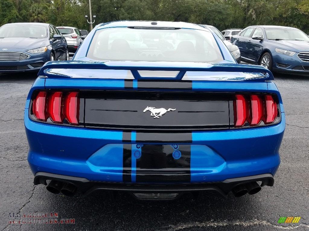 2019 Mustang EcoBoost Fastback - Velocity Blue / Ebony photo #4