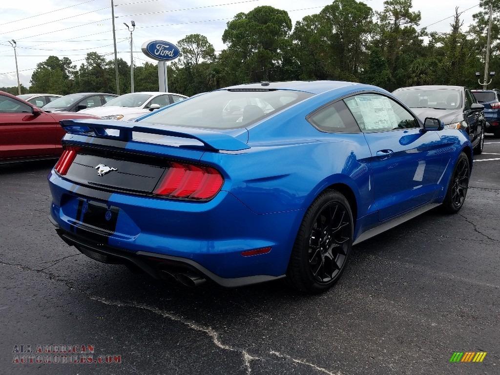 2019 Mustang EcoBoost Fastback - Velocity Blue / Ebony photo #5