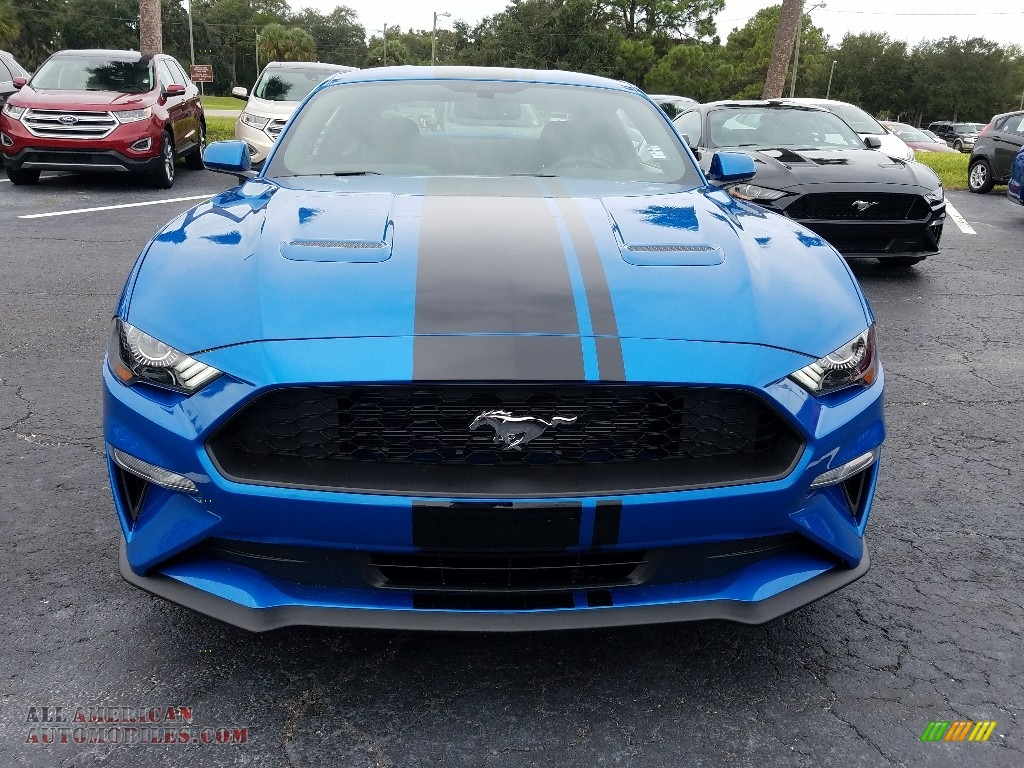 2019 Mustang EcoBoost Fastback - Velocity Blue / Ebony photo #8