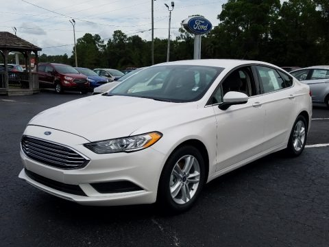 White Platinum 2018 Ford Fusion SE