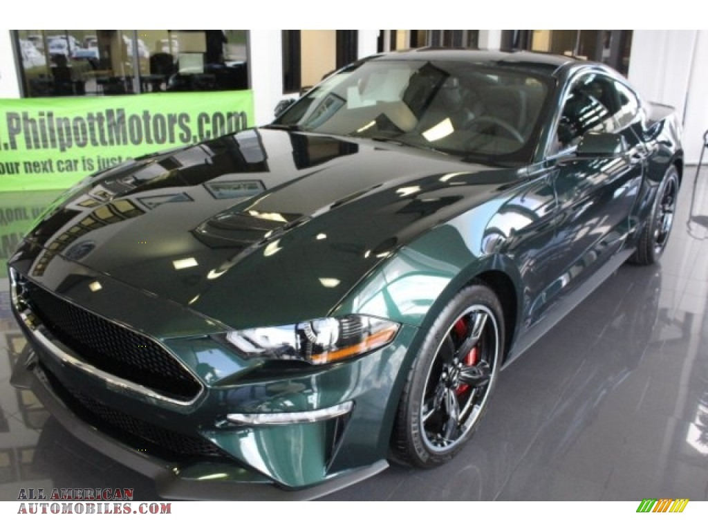 2019 Mustang Bullitt - Dark Highland Green / Ebony photo #3