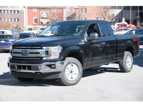 Shadow Black 2018 Ford F150 XLT SuperCab 4x4
