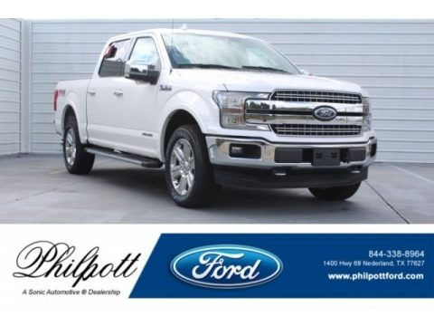 White Platinum 2018 Ford F150 Lariat SuperCrew 4x4