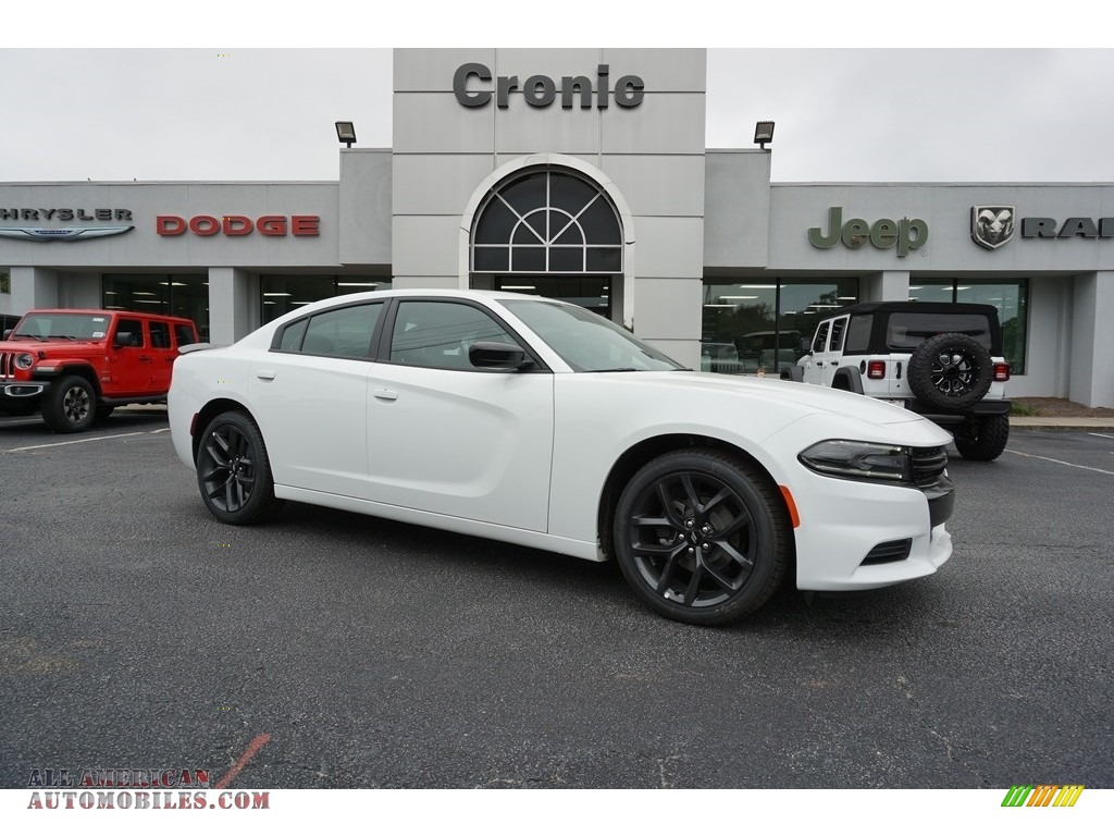 2019 Charger SXT - White Knuckle / Black photo #1