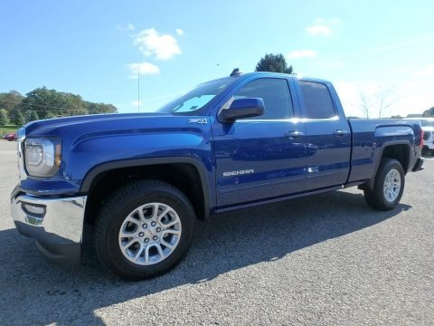 Stone Blue Metallic 2019 GMC Sierra 1500 Limited SLE Double Cab 4WD