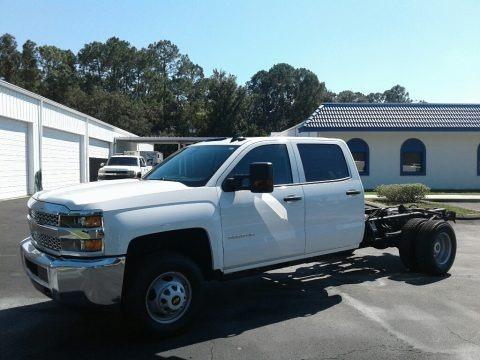Summit White 2019 Chevrolet Silverado 3500HD Work Truck Crew Cab 4x4