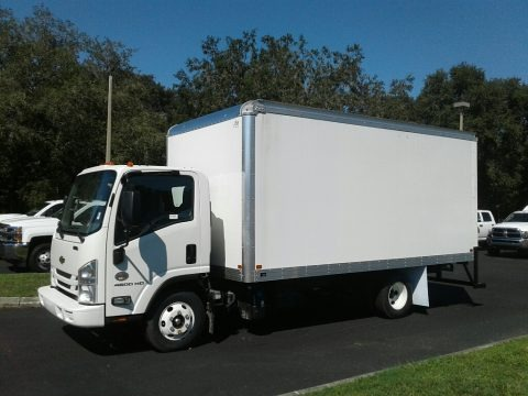 Summit White 2018 Chevrolet Low Cab Forward 4500HD Moving Truck