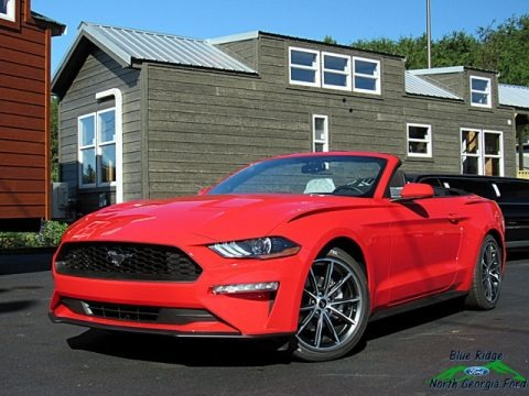 Race Red 2019 Ford Mustang EcoBoost Convertible