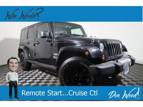 Black 2009 Jeep Wrangler Unlimited Sahara 4x4