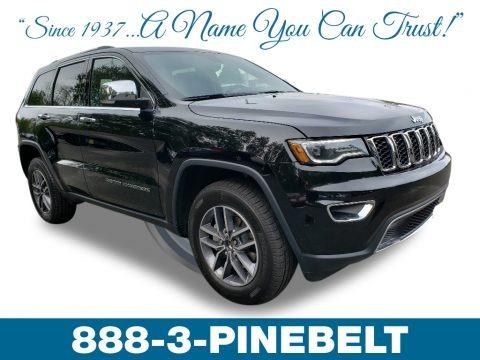 Diamond Black Crystal Pearl 2019 Jeep Grand Cherokee Limited 4x4