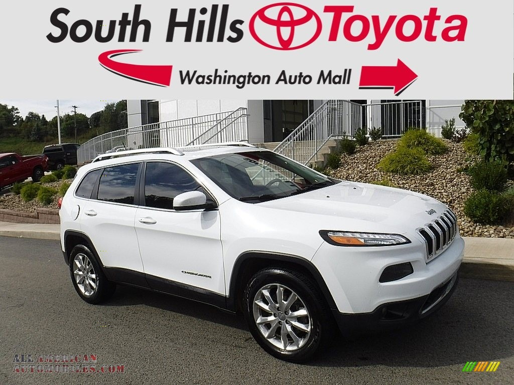 2015 Cherokee Limited 4x4 - Bright White / Black/Light Frost Beige photo #1